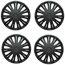 "Volkswagen Golf 14"" Spark Black Wheel Trims Hub Caps Plastic Cover Set Of 4"