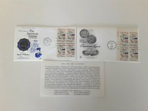 1969 American Legion Golden Anniversary First Day Covers. Art Craft Cachet