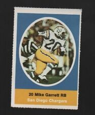 1972 SUNOCO STAMP MIKE GARRETT SAN DIEGO CHARGERS