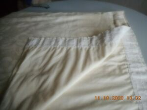 """CREAM CURTAINS WITH FLORAL PATTERN 62"""" x 72"""""""