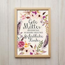 Spruch Gute Mütter Kunstdruck A4 Mama Muttertag Bild Boho Shabby Chic Deko