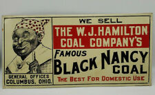 Famous Black Nancy Coal Embossed Stamp Sign Black Americana OIL GAS HARDWARErare