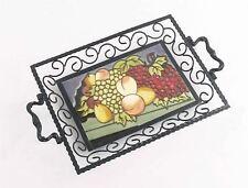 Mellow fruitfulness Iron & Ceramic Serving Tray