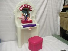 little tikes vanity mirrors white pink sounds complete make up lipstick polish