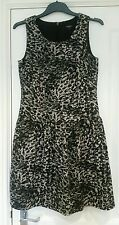 New Size 8 NEXT Animal Print Dress, Brown & Black, Drop Waist BNWT