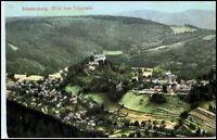SCHWARZBURG Thüringen um 1910/20 Vogelschau-Perspektive Blick v. Trippstein