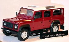Land Rover Defender 110 - Rojo Vino Borgoña Borgoña 1:43