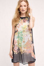 NWT Anthropologie Varese Silk dress sz 0P by Moulinette Soeurs $168