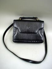 Bellarose Black Leather Organizer Shoulder Bag