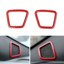 Car A pillor Speaker Cover Frame Molding Trim ABS Red For Ford F150 2015-2017