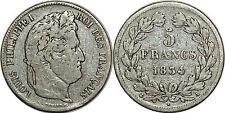 LOUIS PHILIPPE 1  5 FRANCS 1834 A  F.324 PARIS