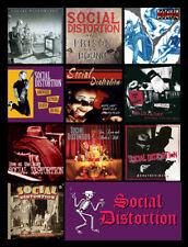 "SOCIAL DISTORTION album discography magnet (4.5"" x 3.5"") black flag fugazi ramon"