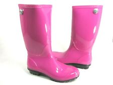 UGG AUSTRALIA WOMEN'S SHAYE RAIN BOOTS,FURIOUS FUCHSIA,US SIZE 7 MEDIUM, NEW