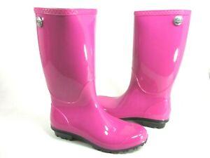 UGG AUSTRALIA WOMEN'S SHAYE RAIN BOOTS,FURIOUS FUCHSIA, US SIZE 10 M, NEW