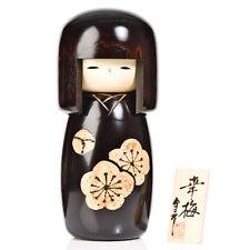 Flor de muñeca de madera kokeshi Negro Iridium