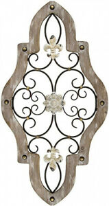 Stratton Home Decor S07678 French Country Scroll Wall Decor, 15.87 W x 0.59 D