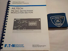 AILTECH PM 3602 AM/FM/PHASE MODULATION SECTION OPERATION & MAINTENANCE MANUAL