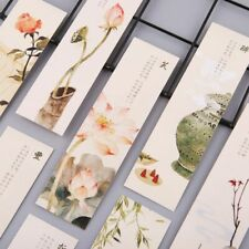 30pcs Creative Chinese Style Paper Bookmarks Painting Cards Retro Beautiful New