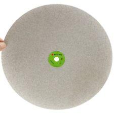 "Grit 100 Diamond coated 16"" inch Flat Lap wheel Lapidary lapping polishing disc"