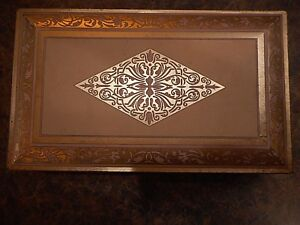 Vintage tin hinged box chest Universal Heating pad farmhouse Landers Frary Clark