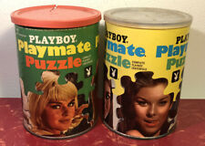 Lot of 2 Vintage 1960s Playboy Playmate Puzzles