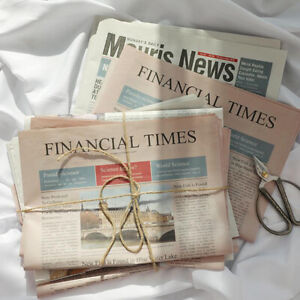 2Pcs Retro English Old Newspapers Photography Decor Props Flower Wrapping PY`hw