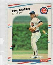 1988 Fleer #431 Ryne Sandberg Chicago Cubs Baseball Card