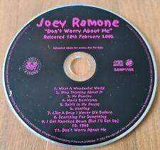 Joey Ramone - Don't Worry About Me. PROMO CD Album (UK 2002) The Ramones. Punk.