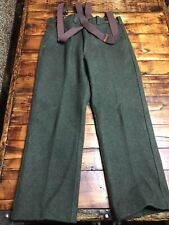 EUC Vintage Filson  Forest Green Wool Mens field Pants Sz 36x31 with suspenders
