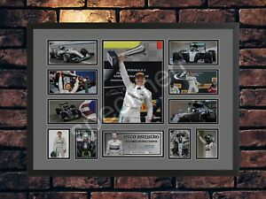 NICO ROSBERG 2016 F1 WORLD CHAMPION A4 SIGNED LIMITED EDITION 3 COLOUR CHOICE