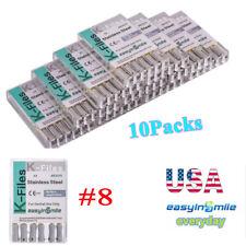 10packs Hand Use Dental K Files Endodontic Root Canal File 8 Easyinsmile 25mm