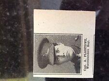 a1k ephemera 1917 ww1 small picture Capt a plaistowe worcestershire regt