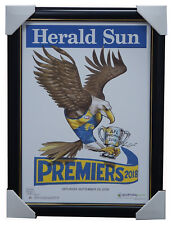 2018 West Coast Eagles Premiers Herald Sun Poster Frame BLG Mark Knight IN STOCK