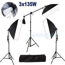 Photography Studio 2025W Softbox Continuous Lighting Soft Box Light Stand Kit US