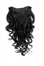Clip-in Haarteil mit 7 Klammern 3/4 Perücke schwarz H9503-1b 50 Cm Extension