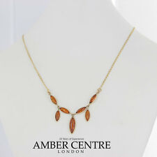 Italian Made Elegant Baltic Amber Necklace in 9ct Gold-GN0052  RRP £340!!!