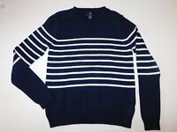 NWOT Gap Women's Crew Neck Sweater Navy Blue/White Striped XS MSRP$45 Free Ship