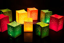 Candle bags - 24 Mini Assorted Coloured Candle Bags - 2 packs of 12