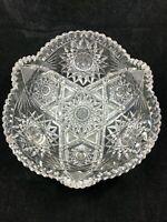 Hawkes Antique American Brilliant ABP cut crystal bowl Harvard Fine diamonds