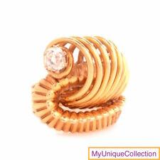Antique 0.52ct Diamond 18K  Gold Loop Buckle Ring 3 1/2