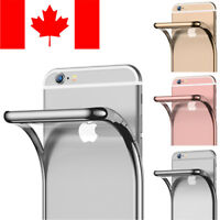 CLEAR CHROME FRAME CASE COVER FOR APPLE IPHONE 6 PLUS & IPHONE 6S PLUS
