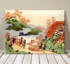 "Beautiful Japanese Art ~ CANVAS PRINT 8x10"" ~ Hokusai Autumn Landscape"
