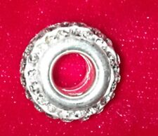Charm perle strass blanc
