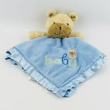 Child of Mine by Carter's Puppy Lovey Blue Security Blanket Baby Boy Satin Back