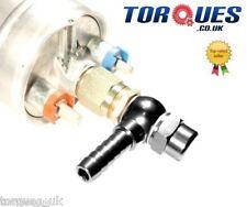 "Bosch 044 Fuel Pump 8mm (5/16"") Push On Outlet Banjo Adapter Fitting +Cap BLACK"