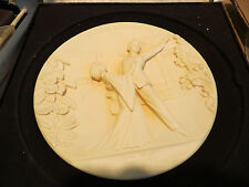 Estate 1977 Madame Butterfly Opera 3D Ivory Alabaster Gino Ruggeri Italy Plate