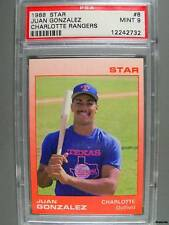1988 Star #8 JUAN GONZALEZ PSA Mint 9 Minor Rangers
