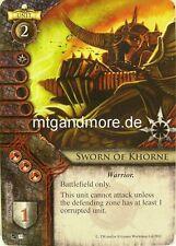 Warhammer Invasion - 2x Sworn of Khorne  #031 - Fragments of Power