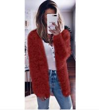 Winter Warm Women Lady Cardigan Fur Jacket Outerwear Tops Fluffy Oversized Coat