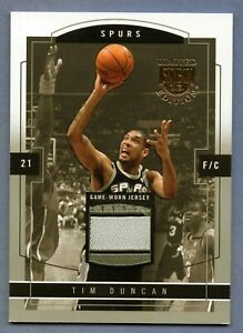 TIM DUNCAN 2003-04 SKYBOX LIMITED EDITION GAME WORN JERSEY PROOF PATCH #D /399
